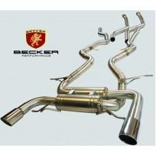 Becker Catback Exhaust 07 08 09 10 BMW 335i E90 E92 Twin Turbo